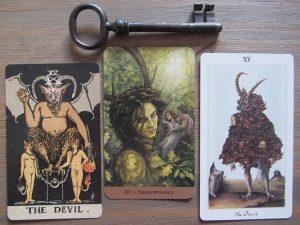 Tarotkaart De Duivel en de schaduw in de tarot